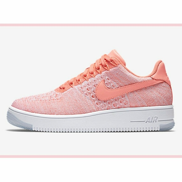 Nike Air Force 1 Flyknit Atomic Pink Low Shoes